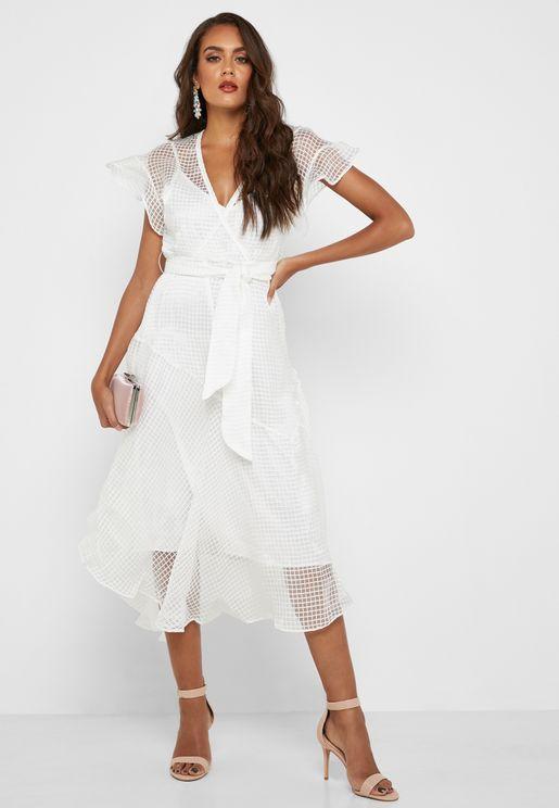 Asymmetric Sheer Dress