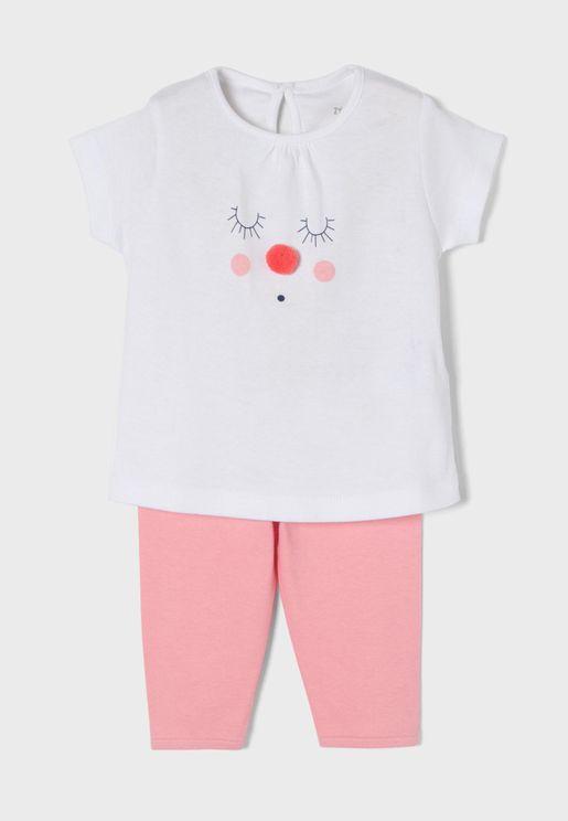 Infant Embossed Face Pyjama Set