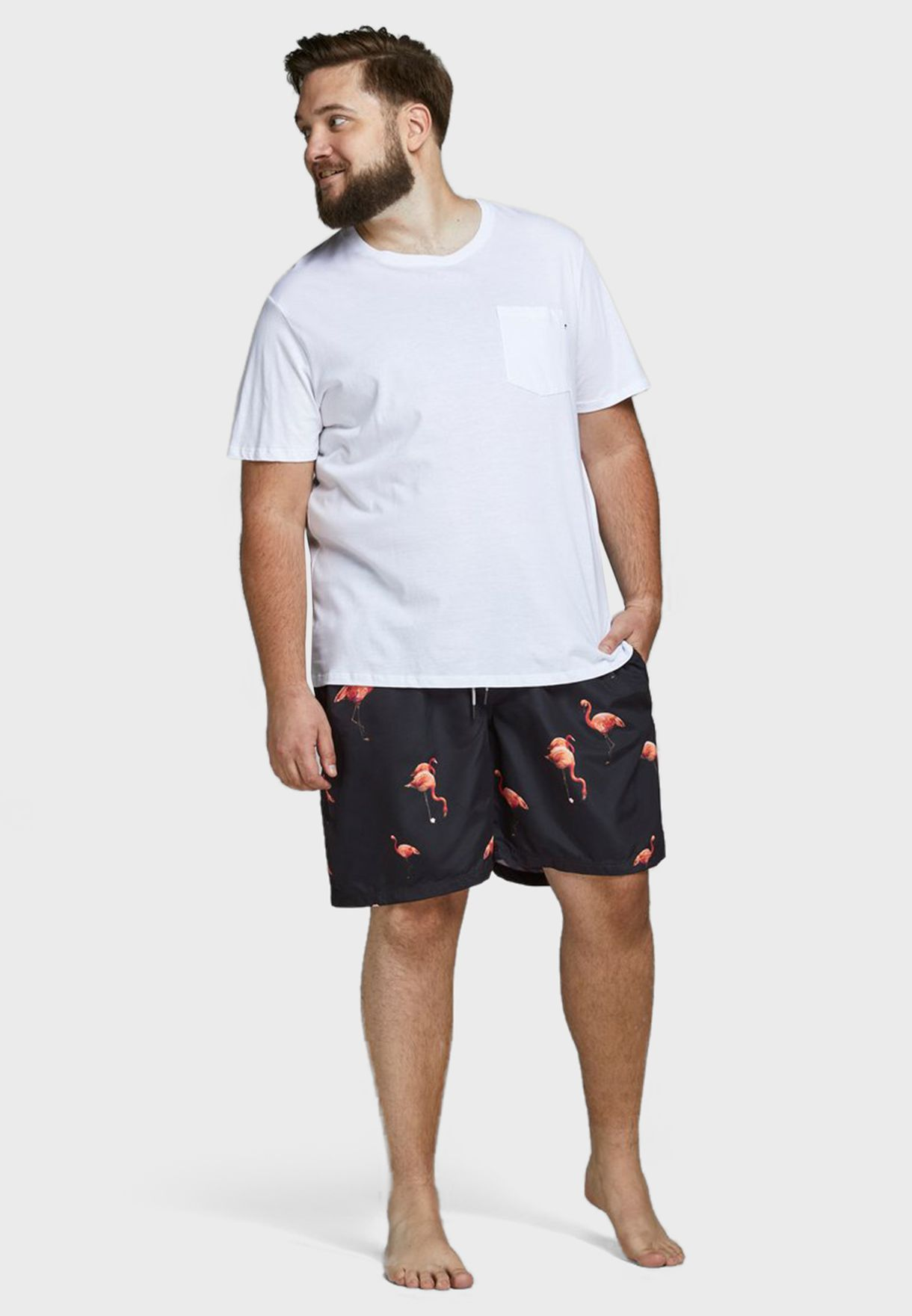 Flamingo Print Swim Shorts