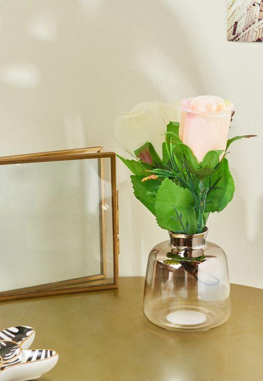 مزهرية زجاجية