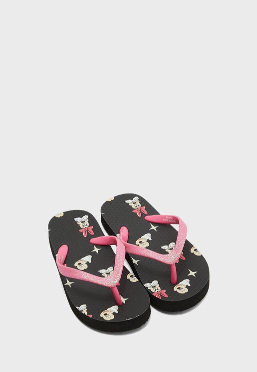 Kids Minnie Mouse Flip Flop