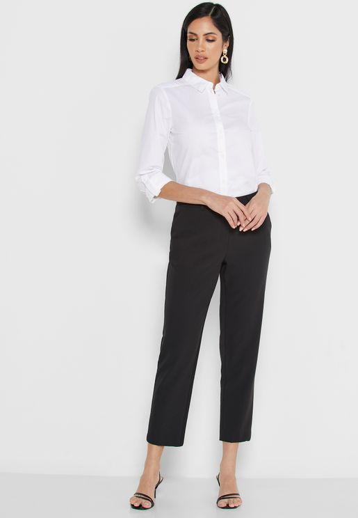 Regular Length Ankle Grazer Pants