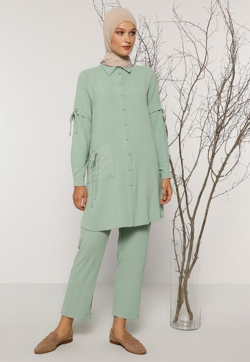 Button Down Shirt & Pants Set