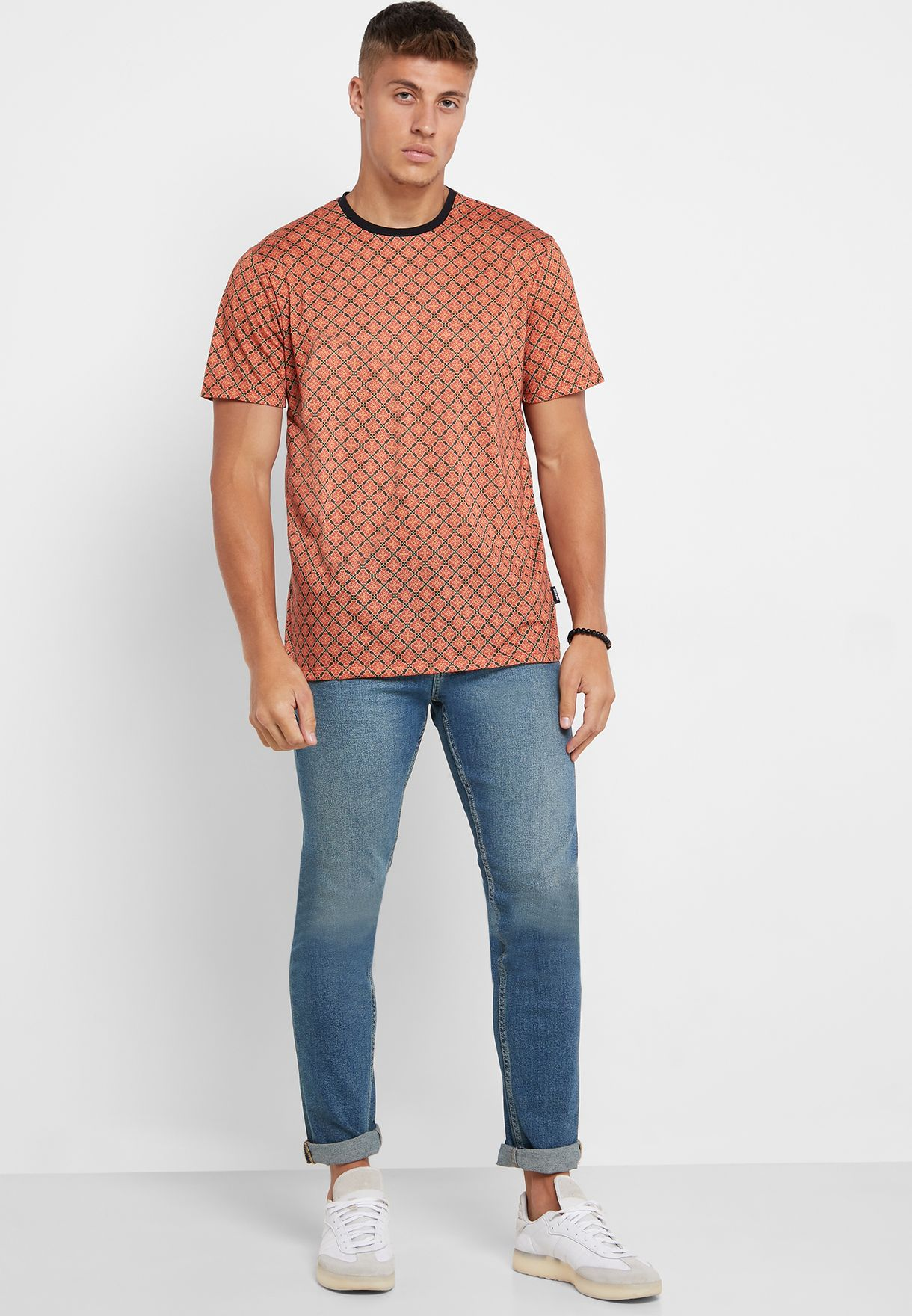 All Over Print Crew Neck T-Shirt