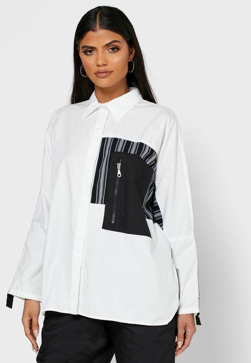 Zip Detail Shirt
