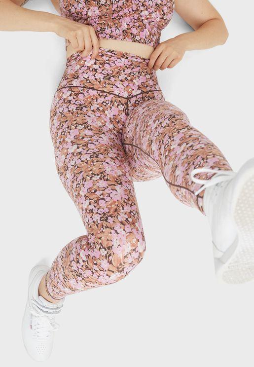 High Waist Printed  Leggings