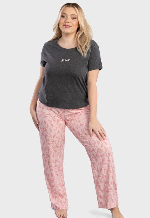 Snooze T-Shirt & Pyjama Set