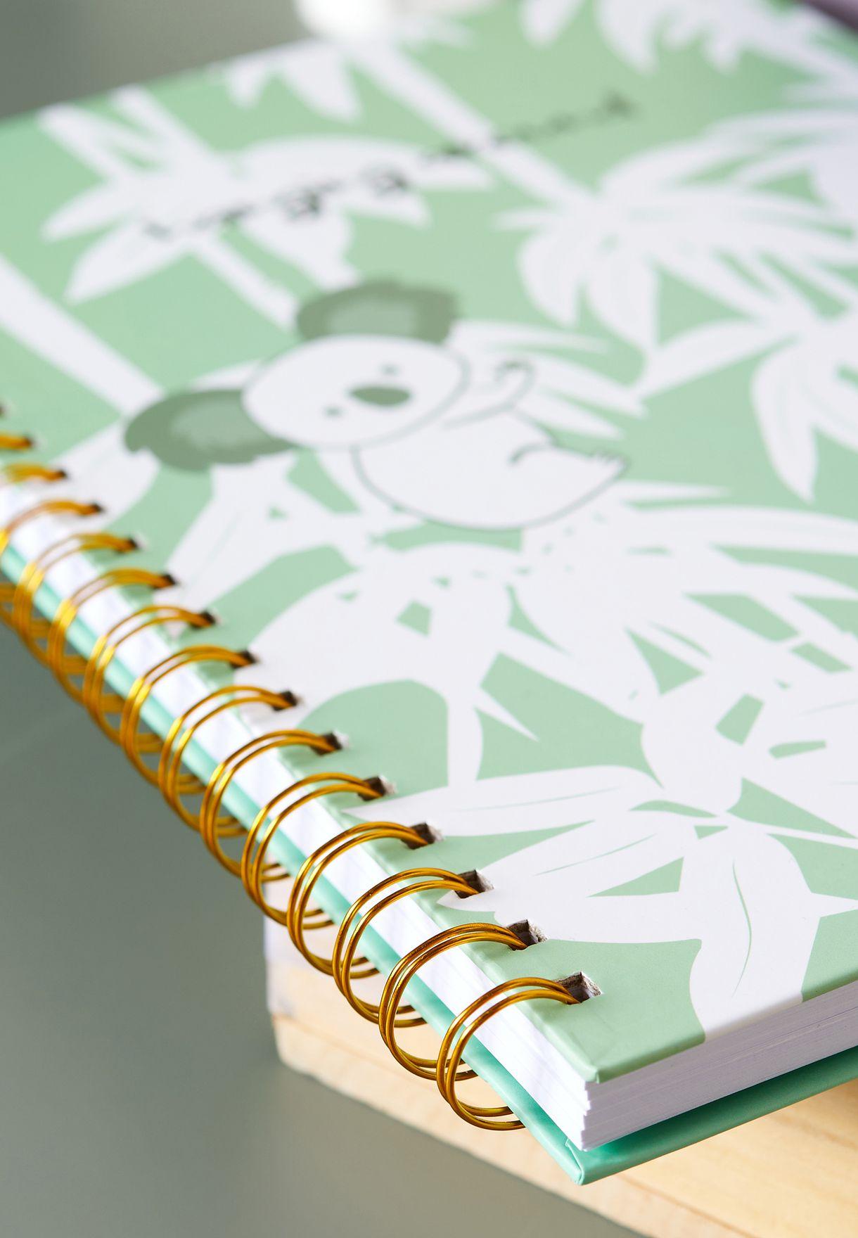 دفتر ملاحظات A4 بطباعة زهور