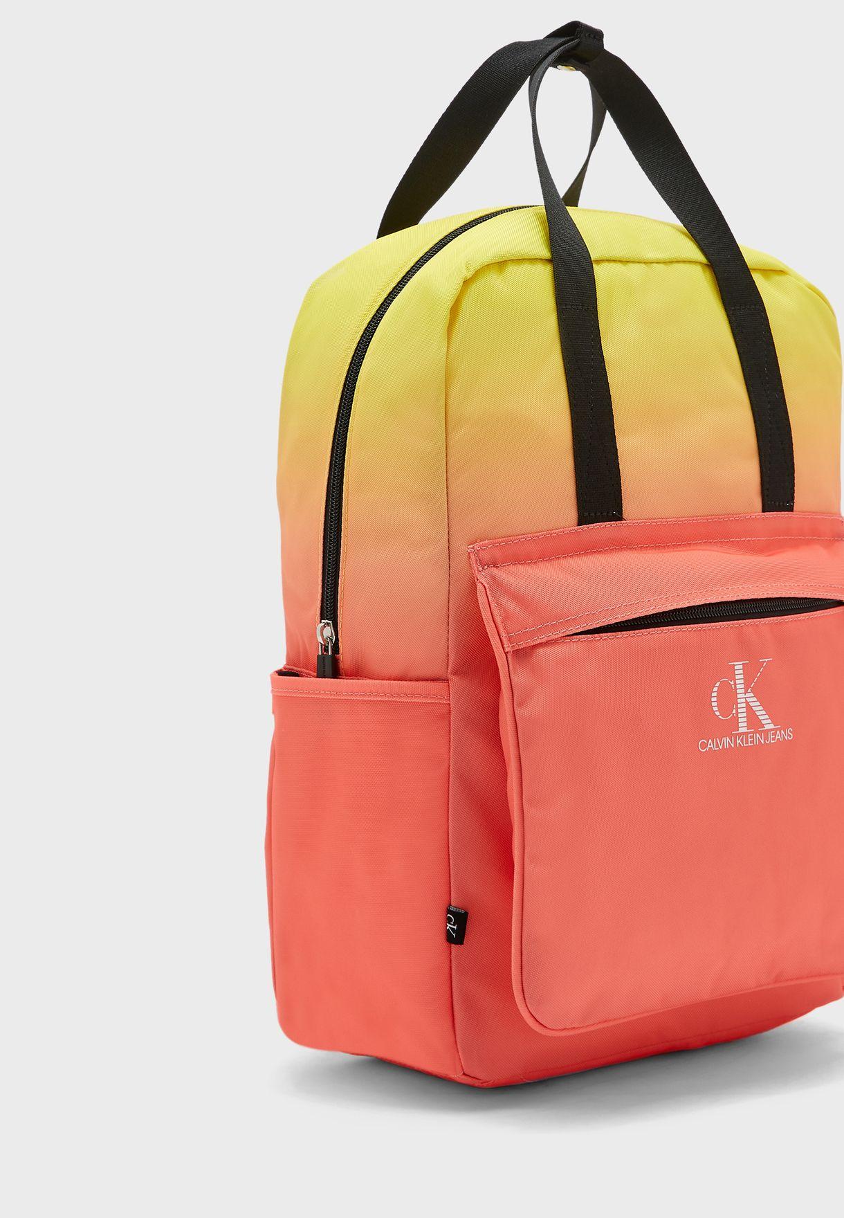Contrast Top Handle Backpack
