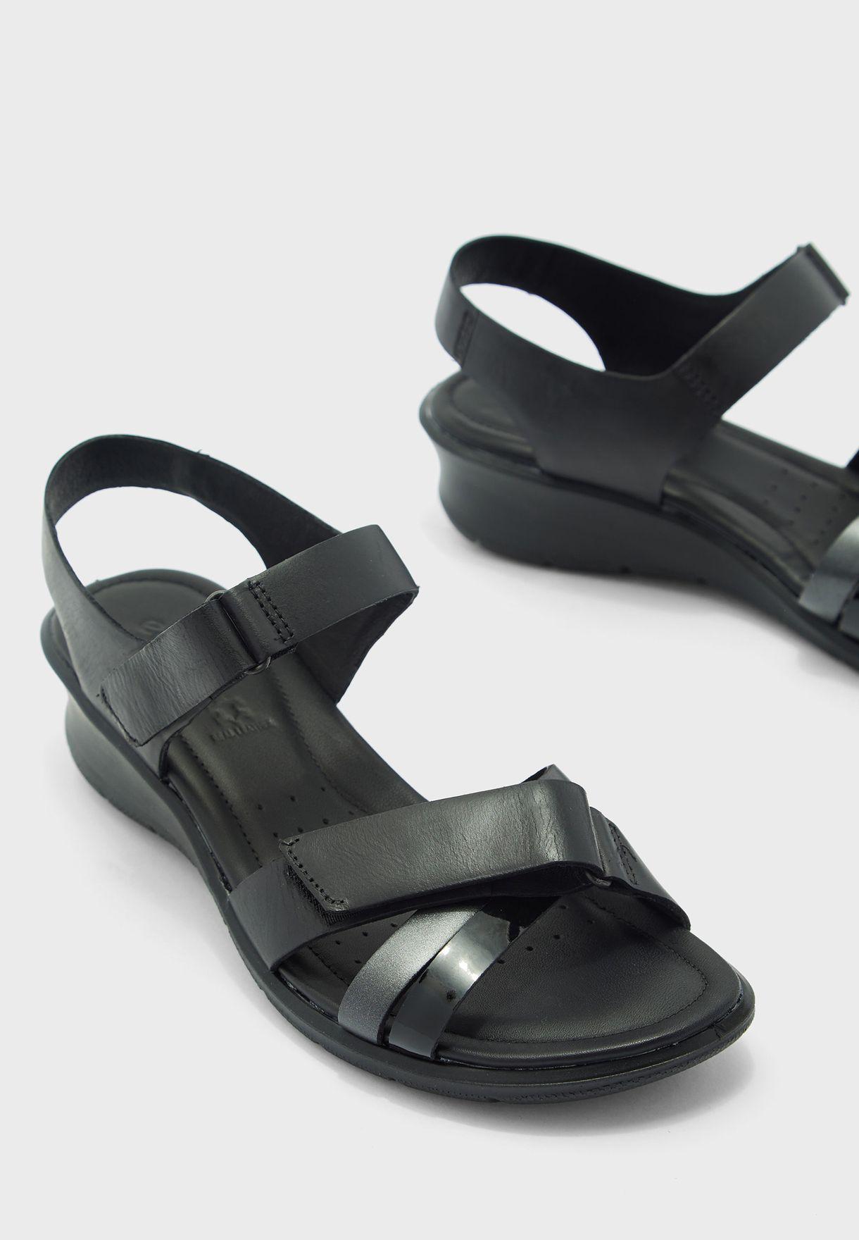 Ankle Strap Mid Heel Sandal