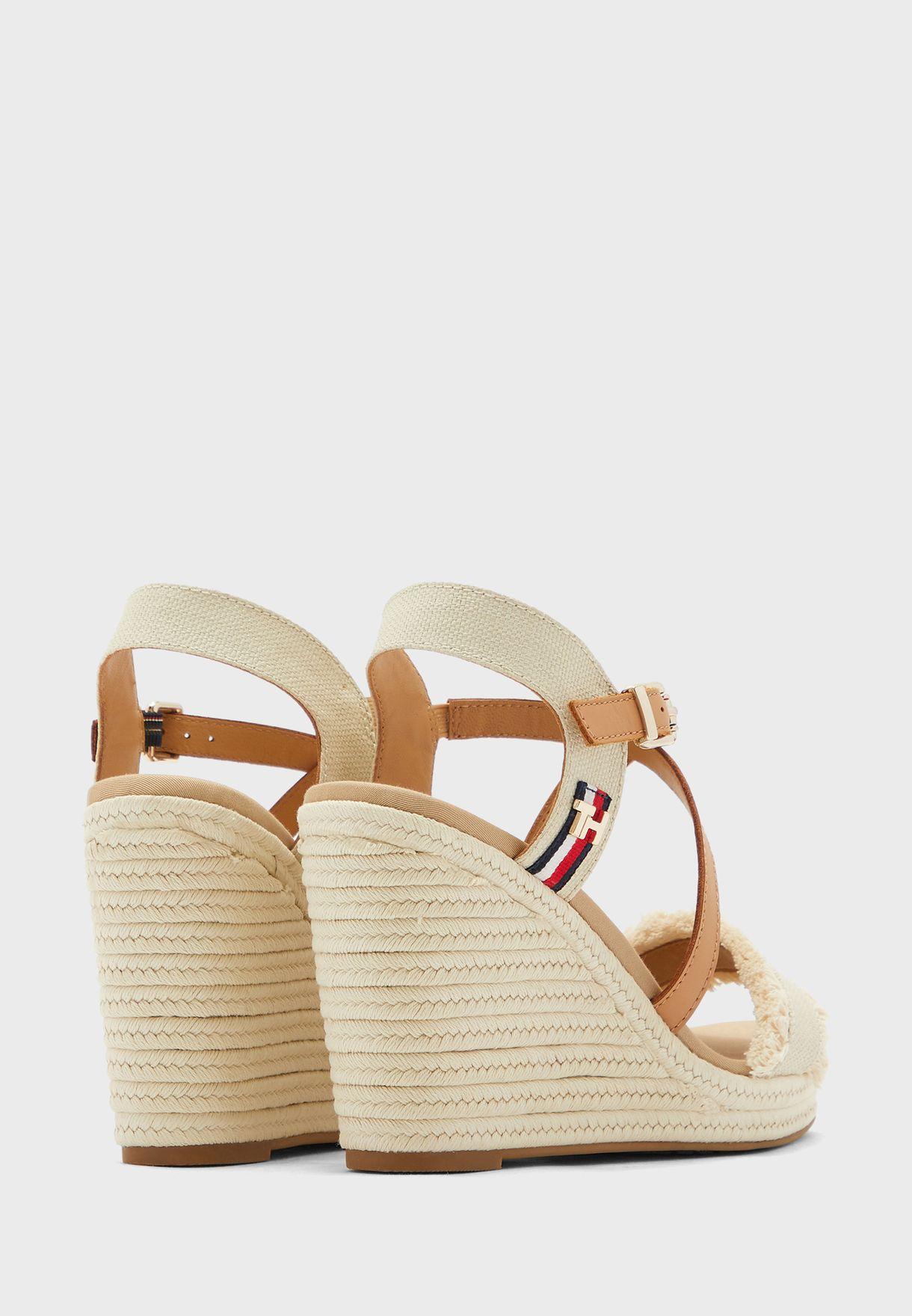 Fringes High Wedge Sandal
