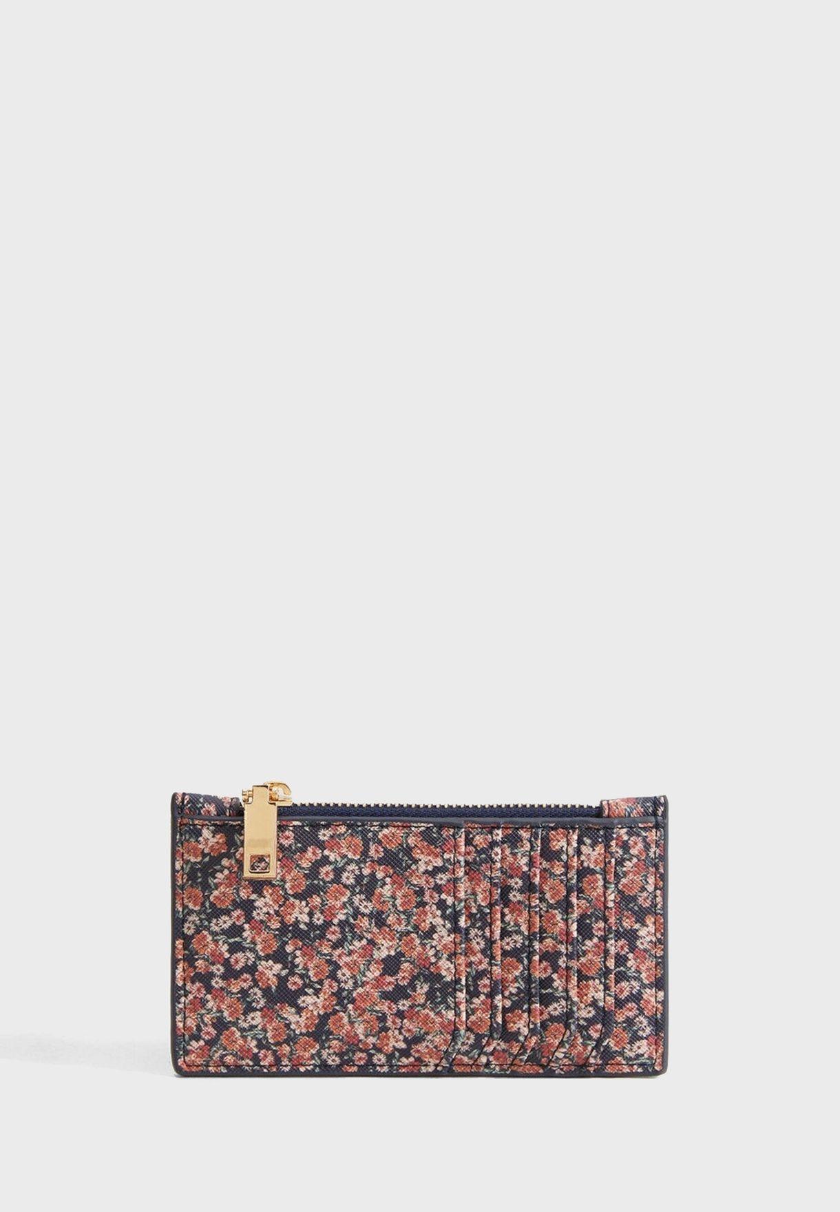 Diana Floral Print Cardholder