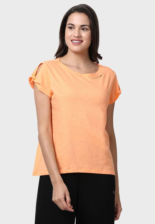 Cotton Relaxed Fit Twisted T-Shirt