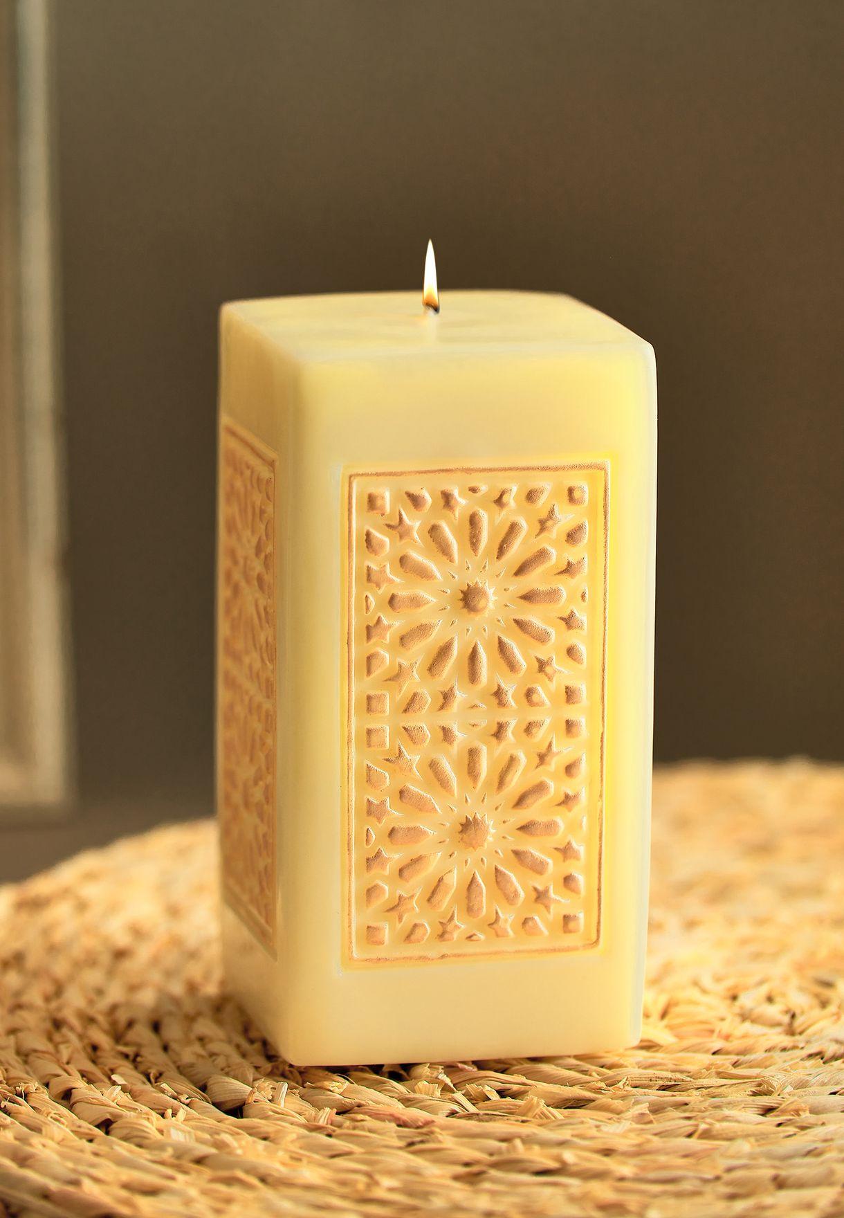 Amal Large Pillar Candle
