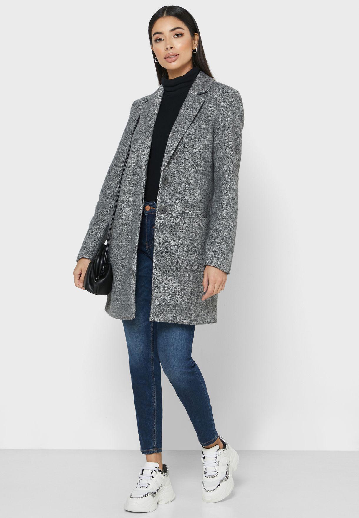 معطف طويل بجيوب