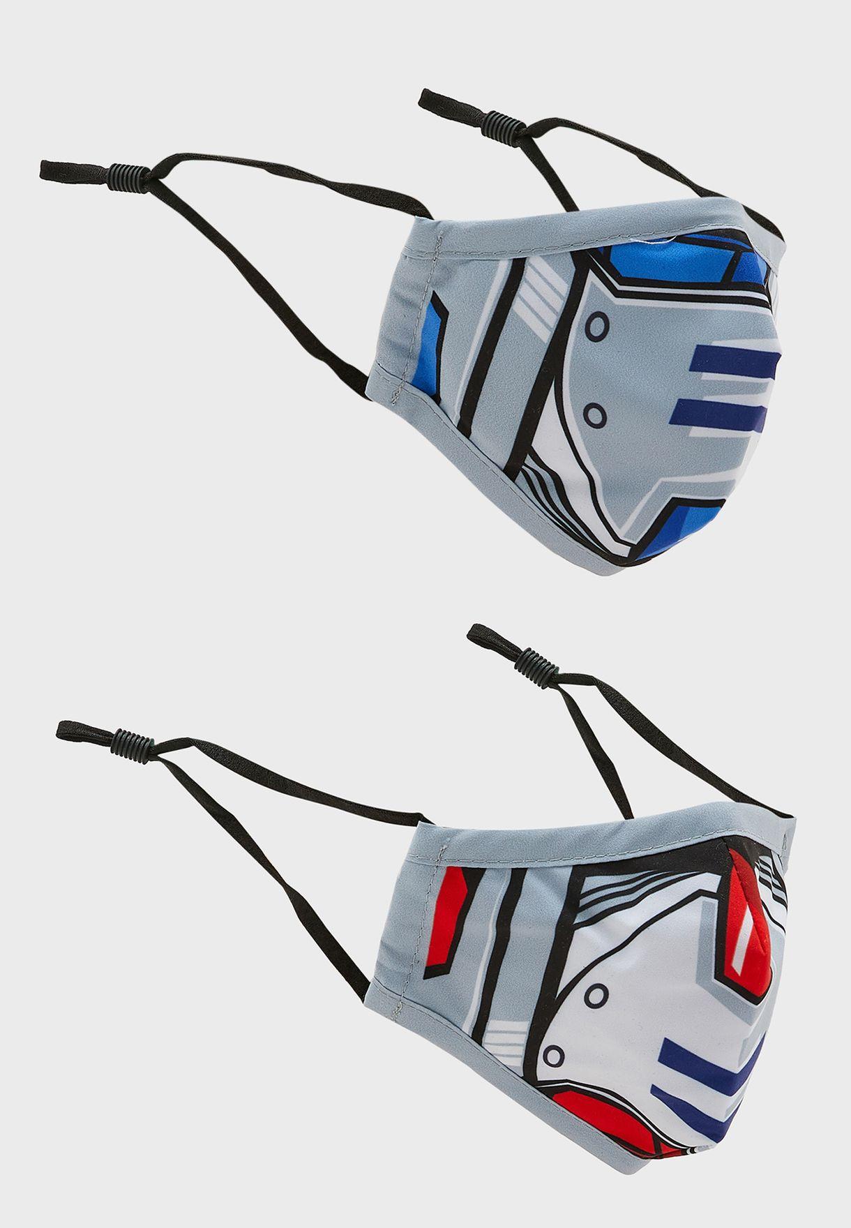 Kids 2 Pack Transformer Print Mask