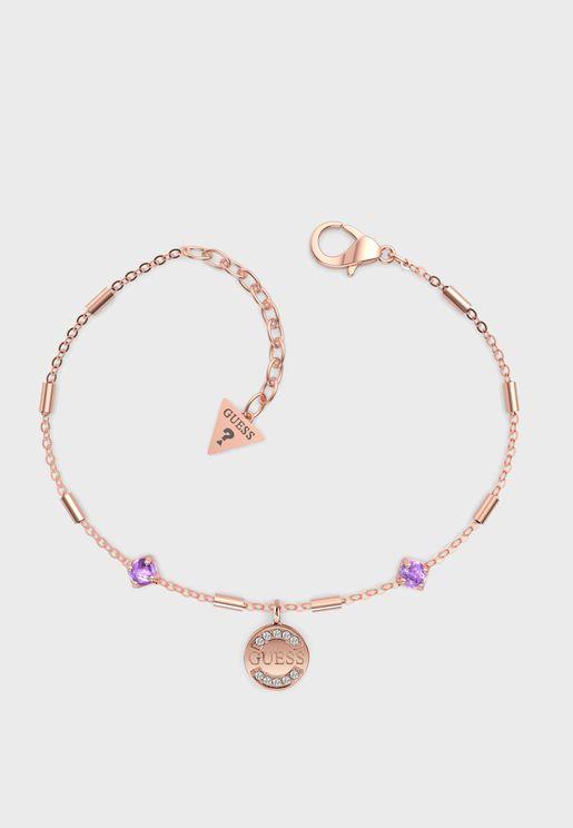 Logo Charm Stones Bracelet
