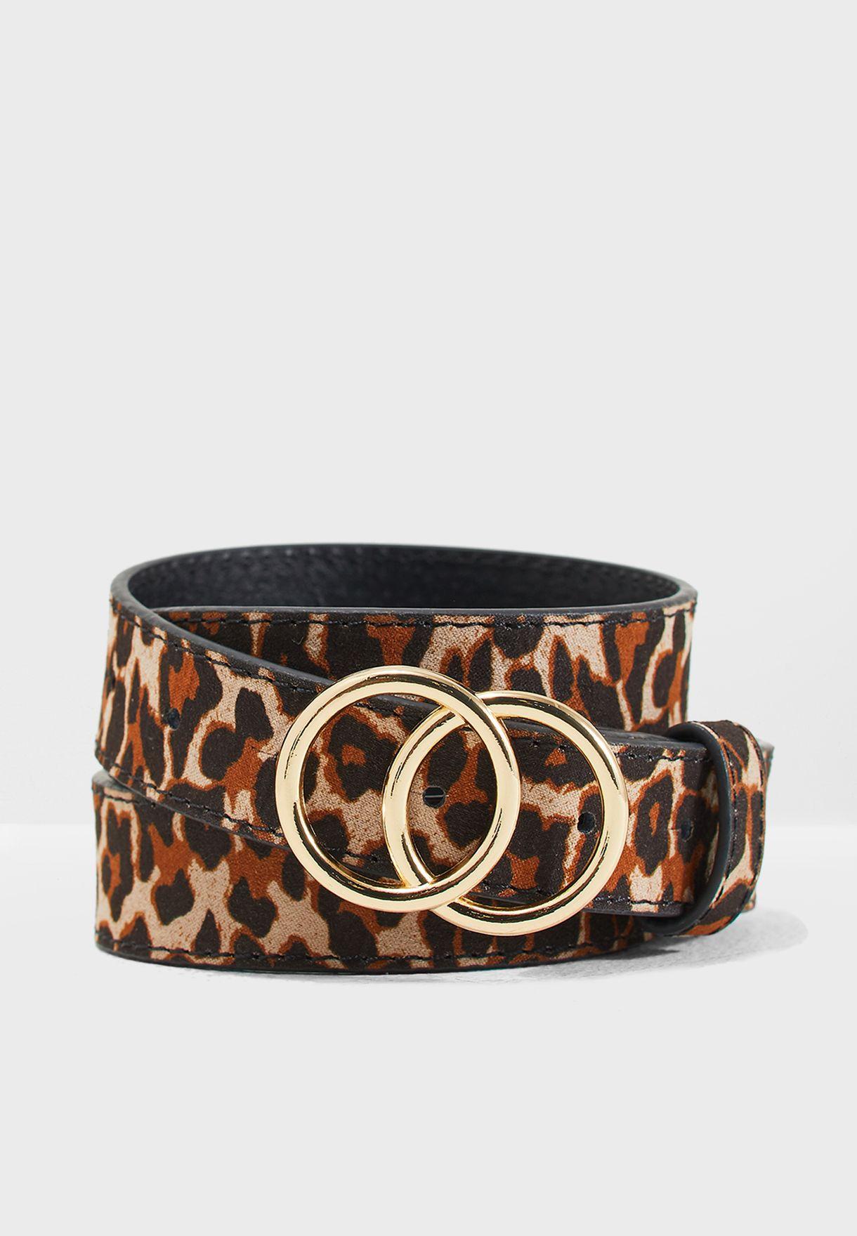 Light Leopard Print Circle Belt