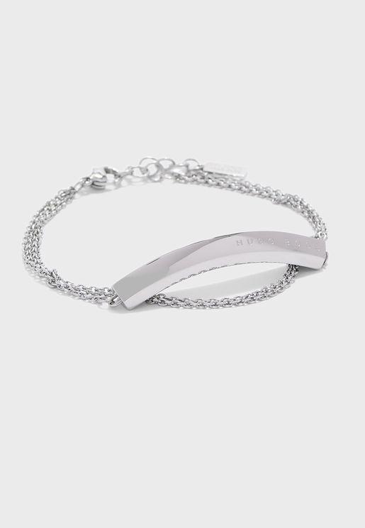 1580022 Insignia Rooftop Triple Chain Bracelet