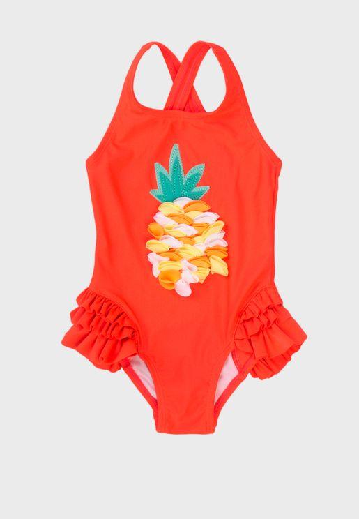 Kids Pineapple Swimsuit