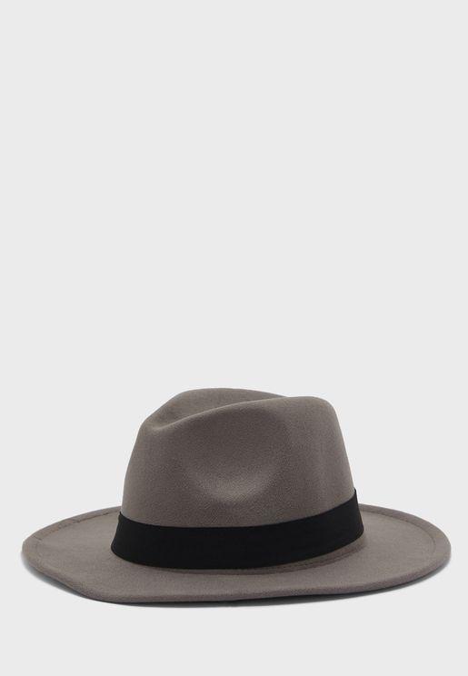 Bow Band Felt Panama Hat