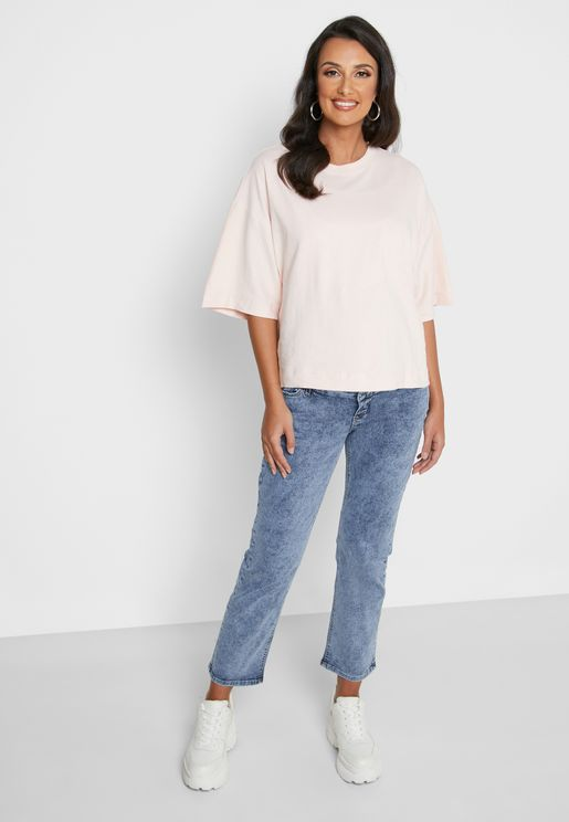 Cropped Comfy Fit Jeans