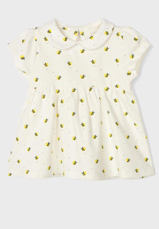 Infant Bee Print Top