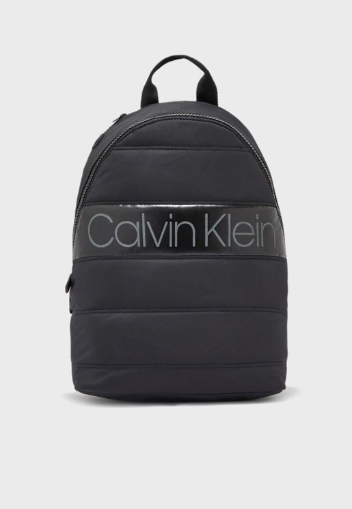 Logo Puffer Backpack