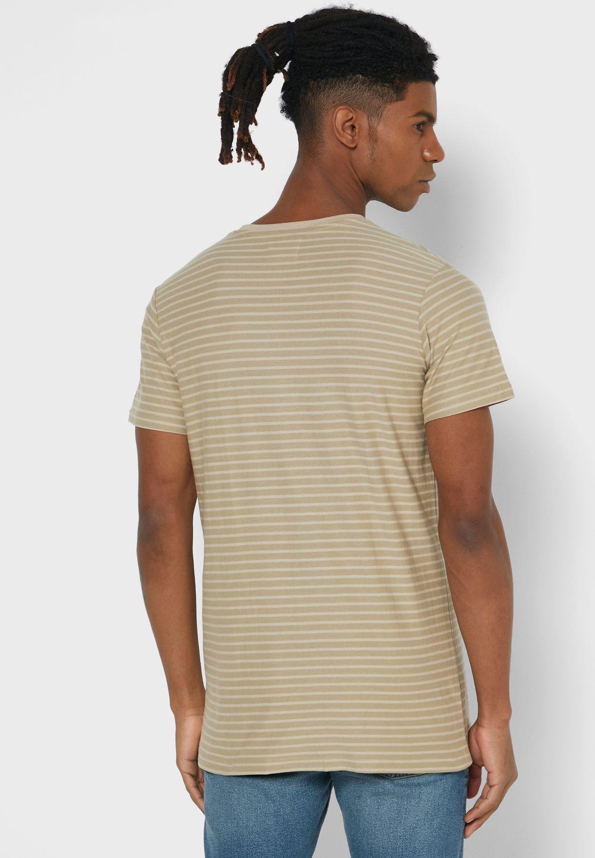 Striped Crew Neck T-Shirts