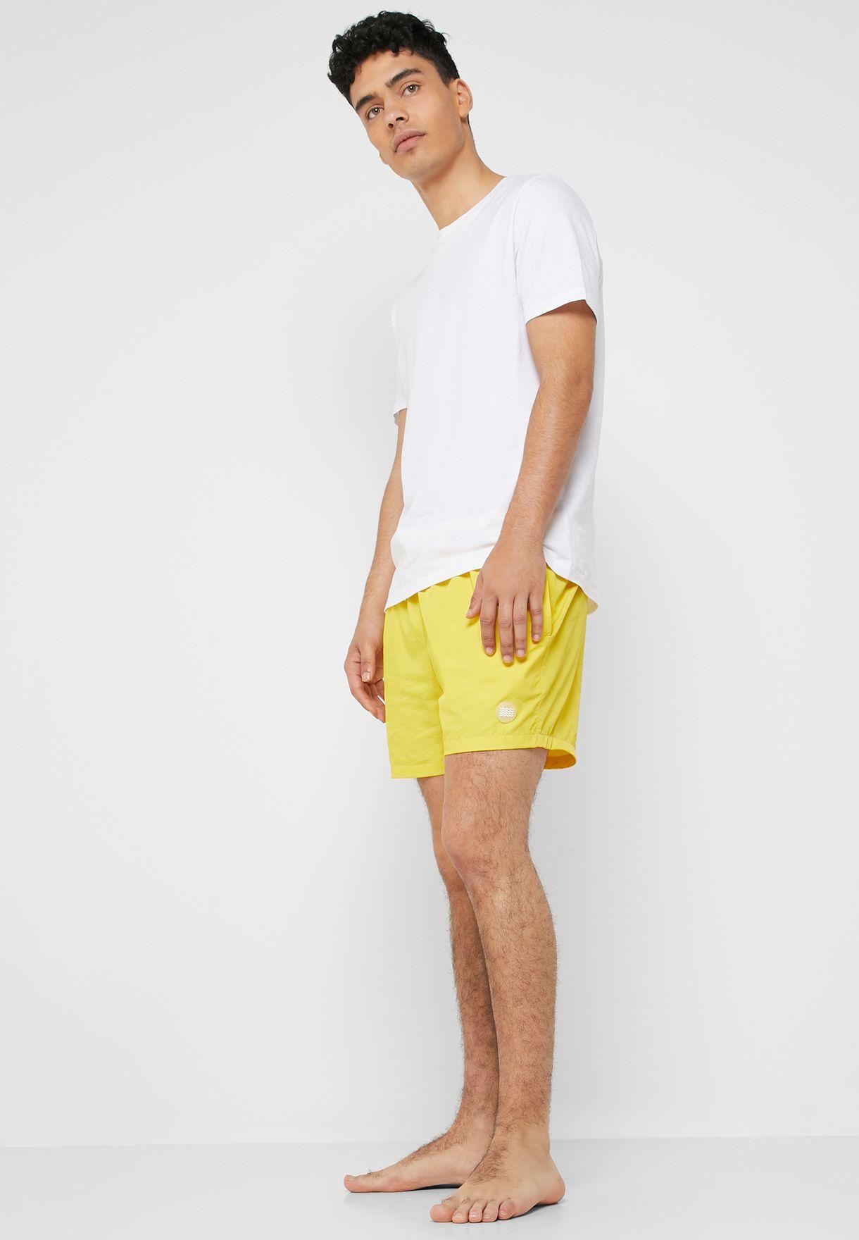 4c3341c3b2 Shop Topman yellow Basic Swim Shorts 33L09QYLW for Men in Bahrain ...