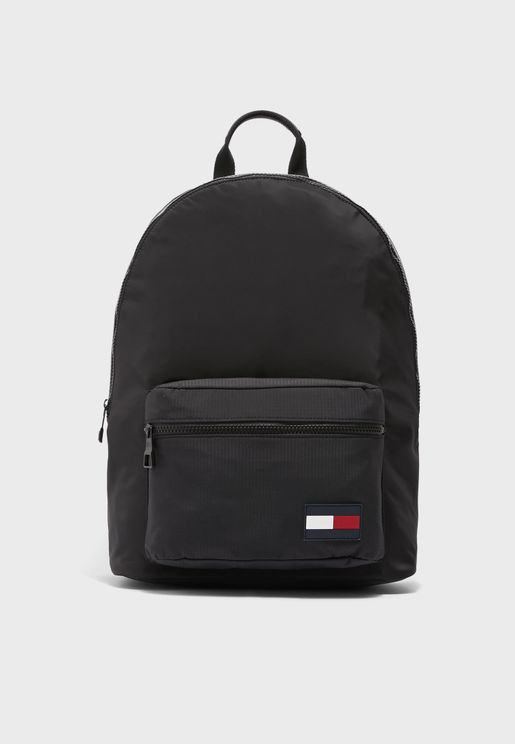 Contrast Stripe Dome Backpack