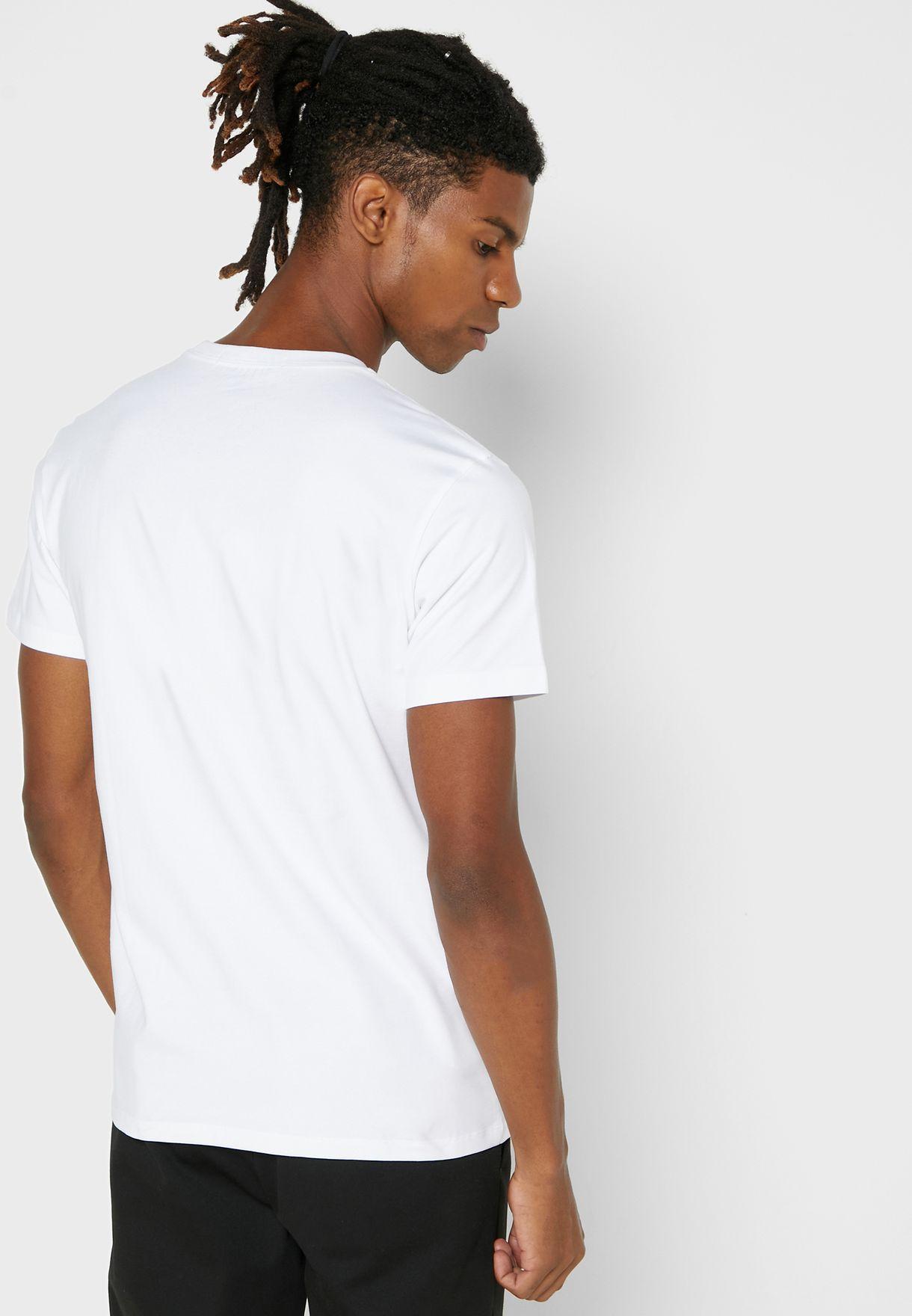 Grid Logo Crew Neck T-Shirt