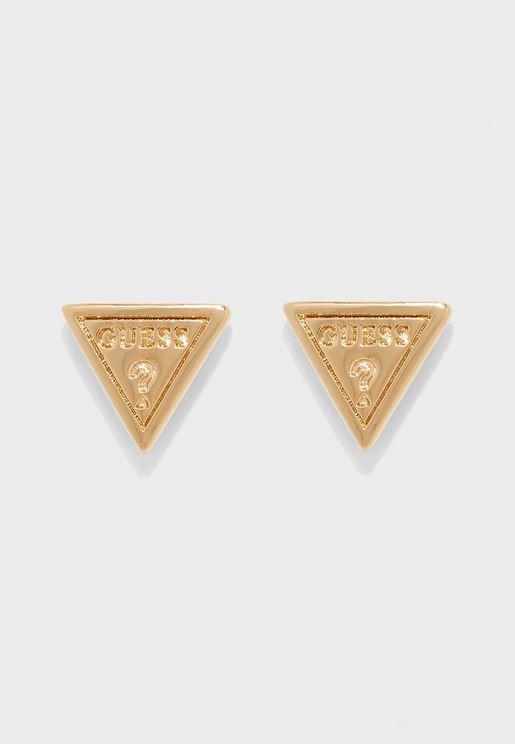 قرط دبوسي بشكل مثلث