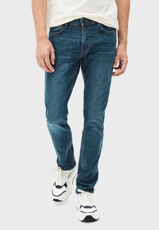Straight 5 Pocket Jeans