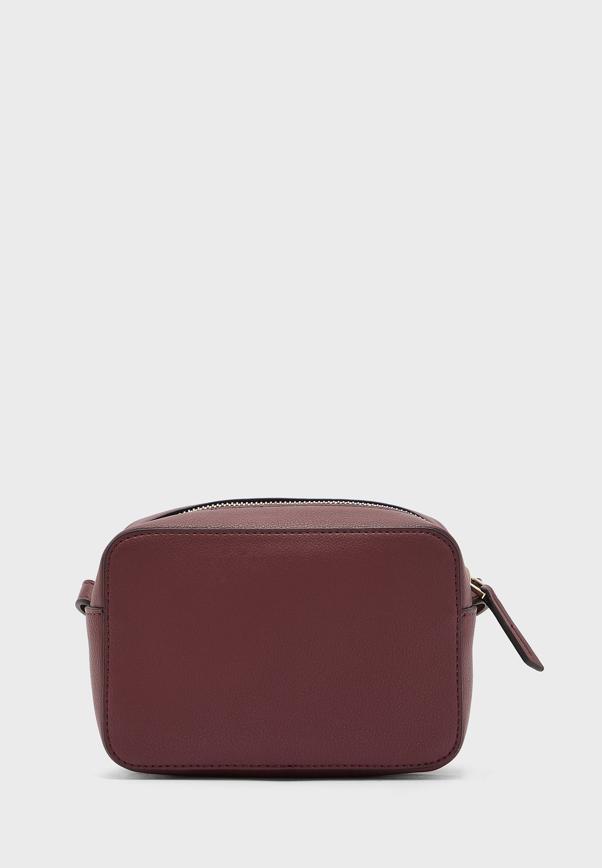Logo Zip Around Crossbody