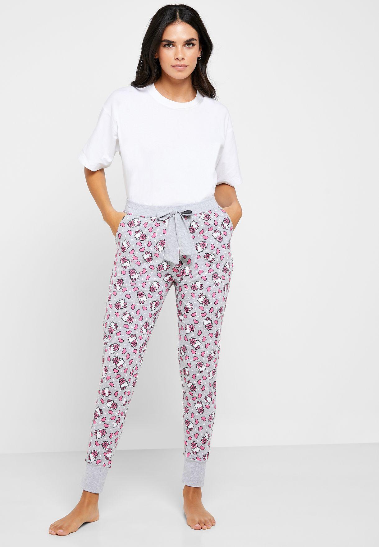 Tie Waist Printed Pyjama
