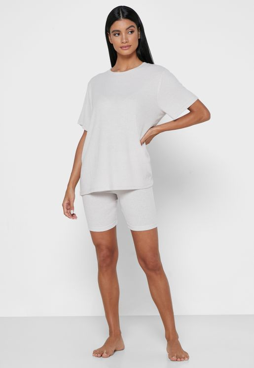 Lillie Lounge Oversized T-Shirt & Shorts Set