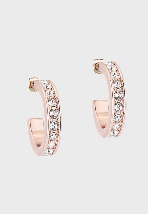 Seannia Crystal Hoop Earrings