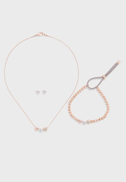 Love Earrings+Pendant Necklace Set
