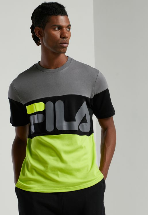 Vialli Colour Block T-Shirt