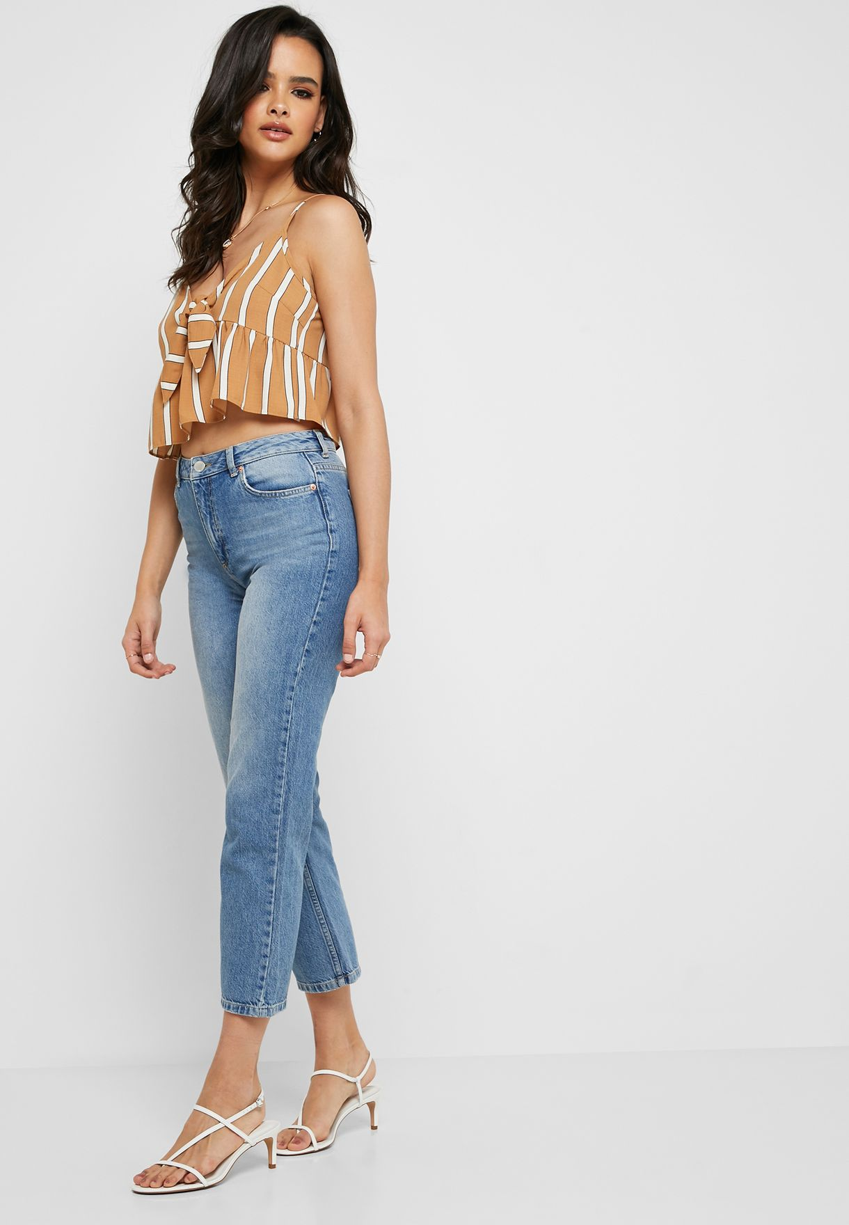 Recycled Mid Rise Straight Jeans