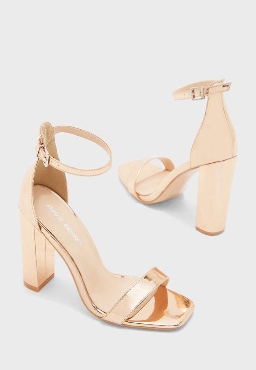 Bronx Ankle Strap Sandal - Rose Gold