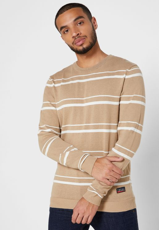 Colombo Striped Knitted  Sweater