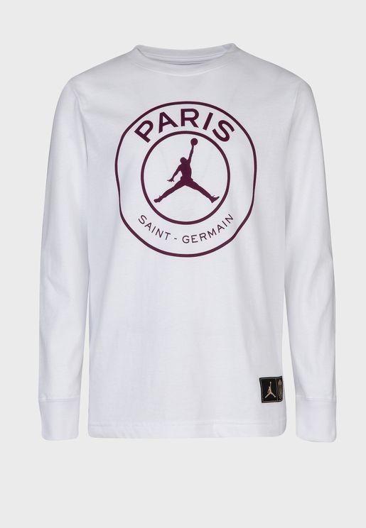 Youth Jordan PSG Logo T-Shirt