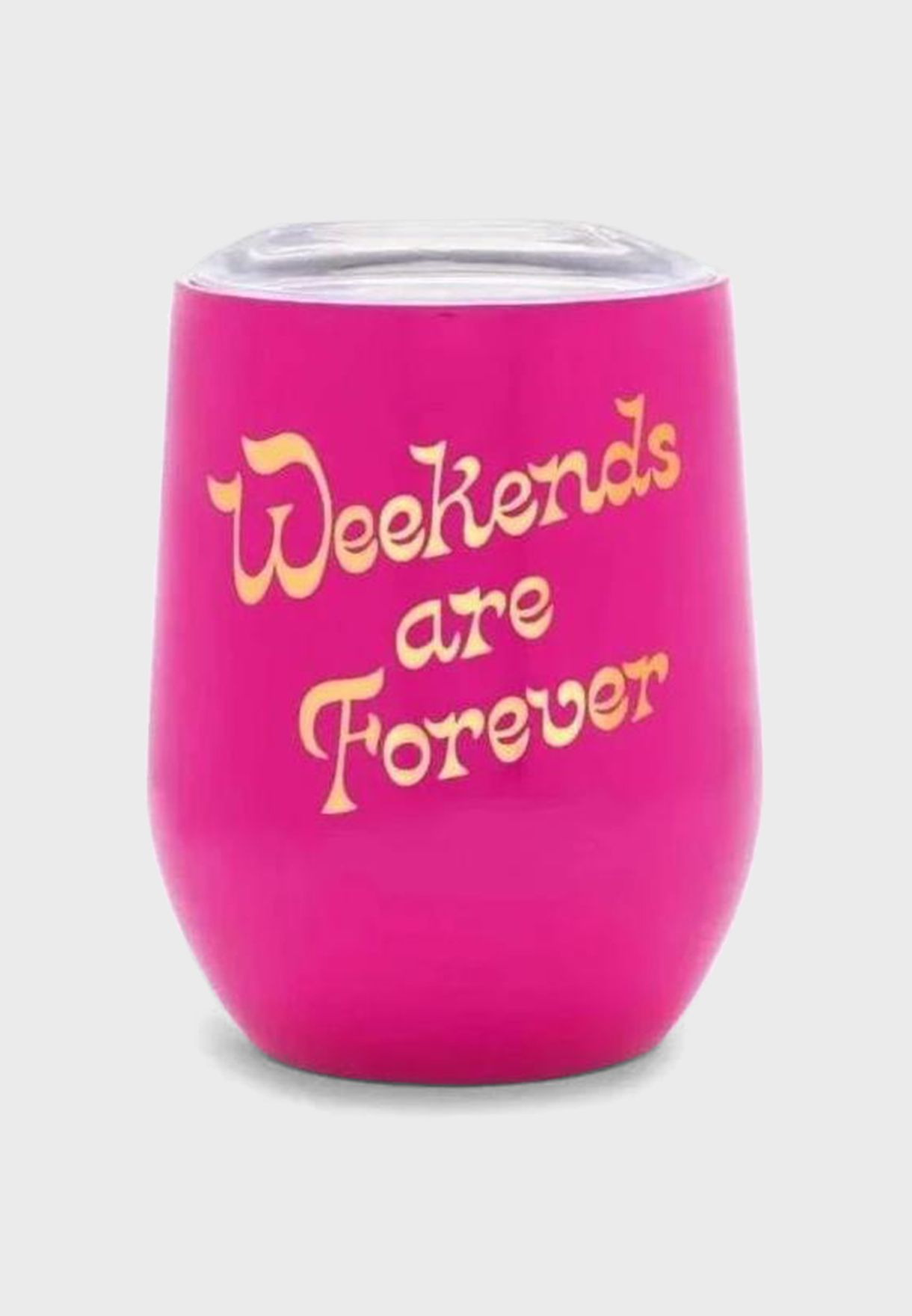 Weekends Are Forever Glass With Lid