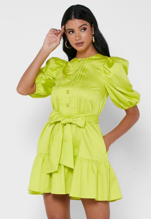 Sofiiia Button Front Mini Dress