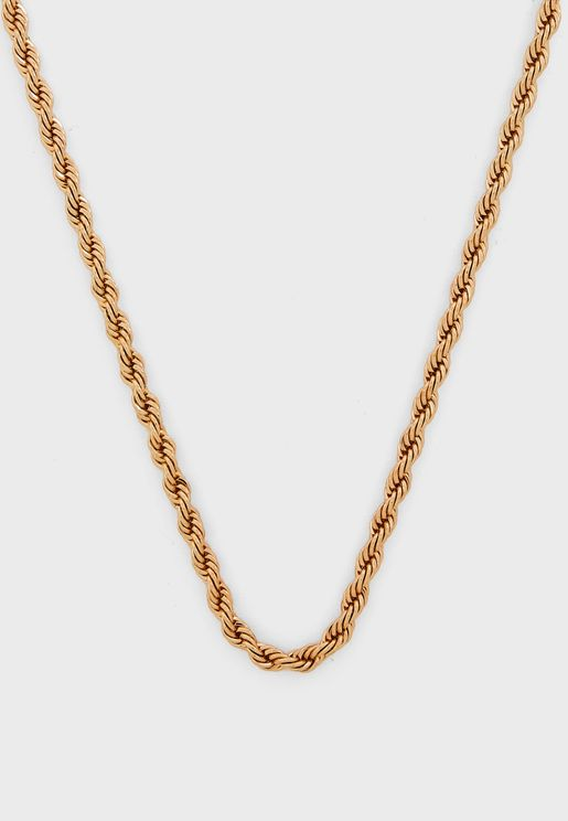 Twisted Rope Chain Necklace