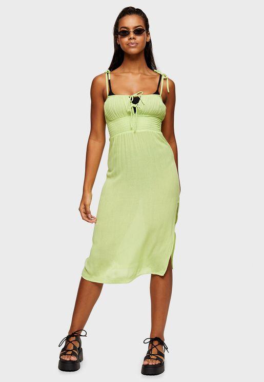 Bardot Ruched Front Dress