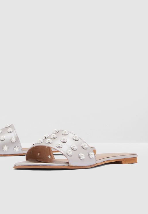 Embellished Sandal - Silver