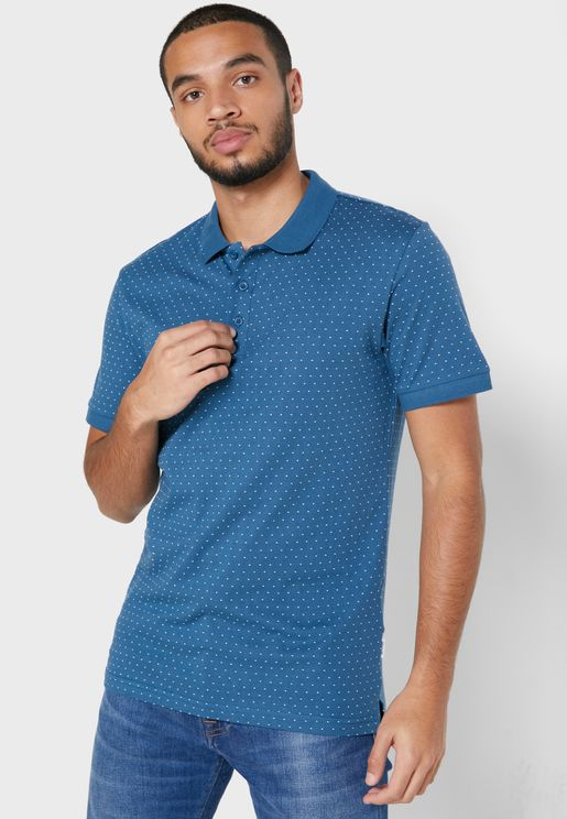 Keen Jacquard Slim Fit Polo